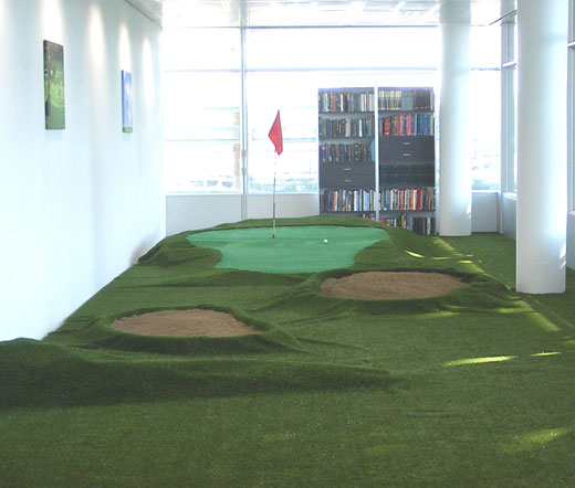 indoor putting green